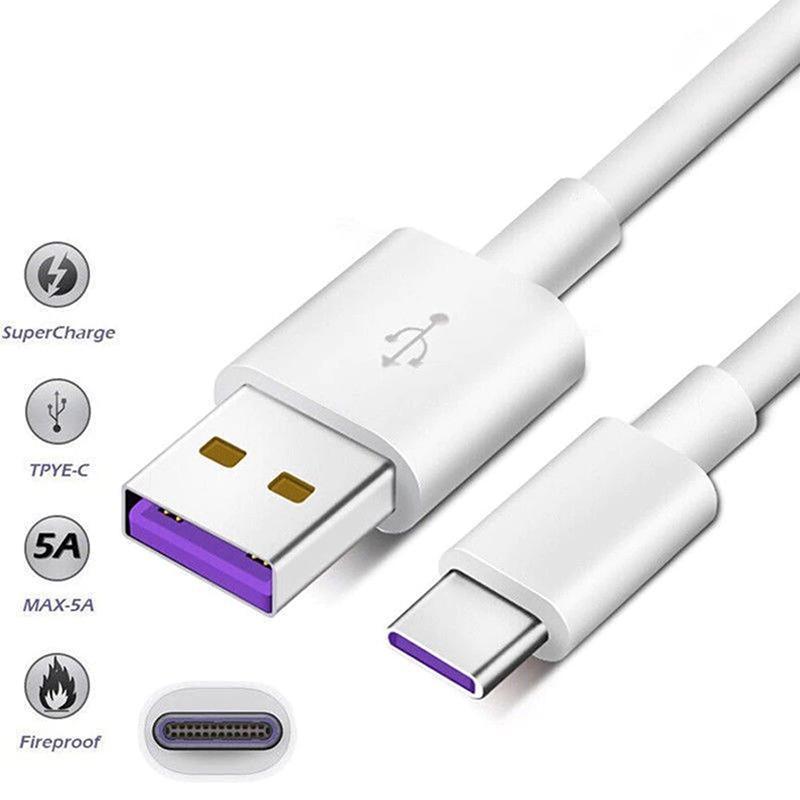 Cavo 1M 5A Supercharge Per Huawei Samsung Moto LG USB Tipo di cavo C Cavo USB 3.1 Cavi di tipo C di ricarica veloce