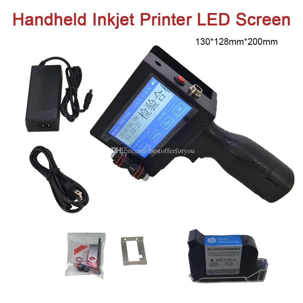 Stampante a getto d'inchiostro portatile Touch Screen LED Data Coder per tubo di metallo in pietra Codice a inchiostro Codice Stampante multifunzionale