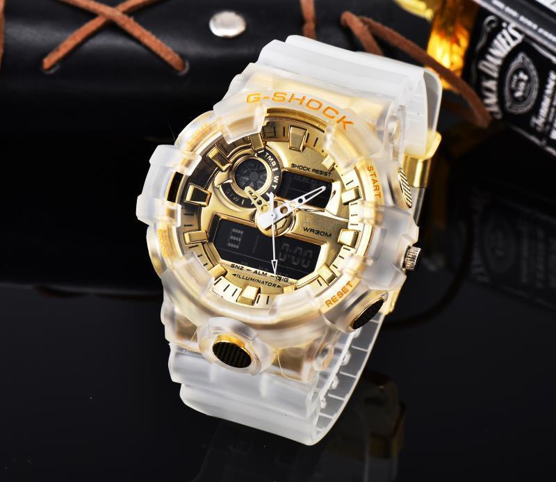 뜨거운 판매 충격 브랜드 듀얼 디스플레이 남성 시계 패션 야외 G 스포츠 시계 남성 LED 전자 디지털 시계 남자 크로노 그래프 손목 시계 R