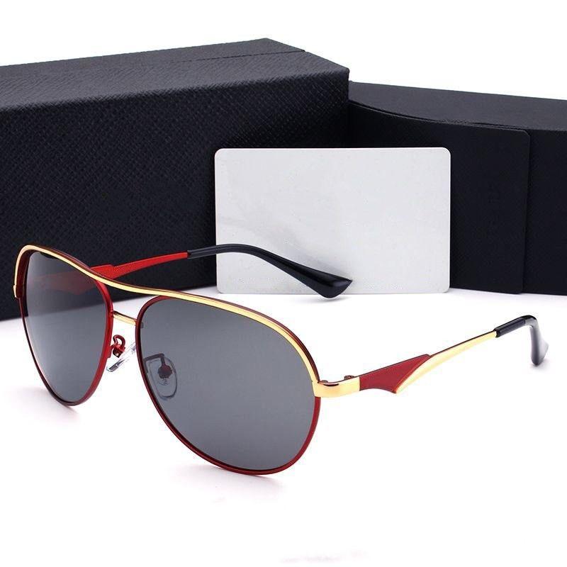Herren Sonnenbrillen mit Geschenkverpackung Mode Sommer Mann Sonnenbrille hochwertig 9 Farbe optional