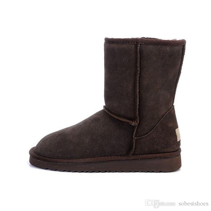 Großhandel UGG Boots Ugg Nike Air Max Nmd Supreme Off White Heiß!!! WGG Winterstiefel Australia Classic Snow Boots WGG Hohe Stiefel Aus Echtem Leder