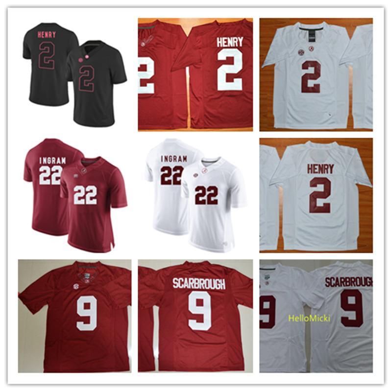 2021 Mens #2 Derrick Henry Alabama Crimson Tide Football Jerseys ...