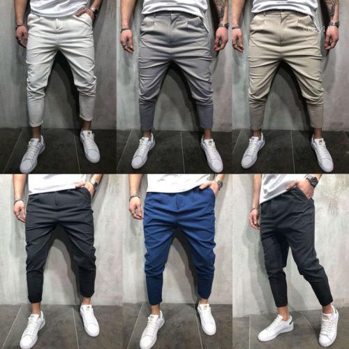 2018 Nouveau Hommes Slim Fit Urban jambe droite Pantalons Crayon Jogger Cargo Pants1