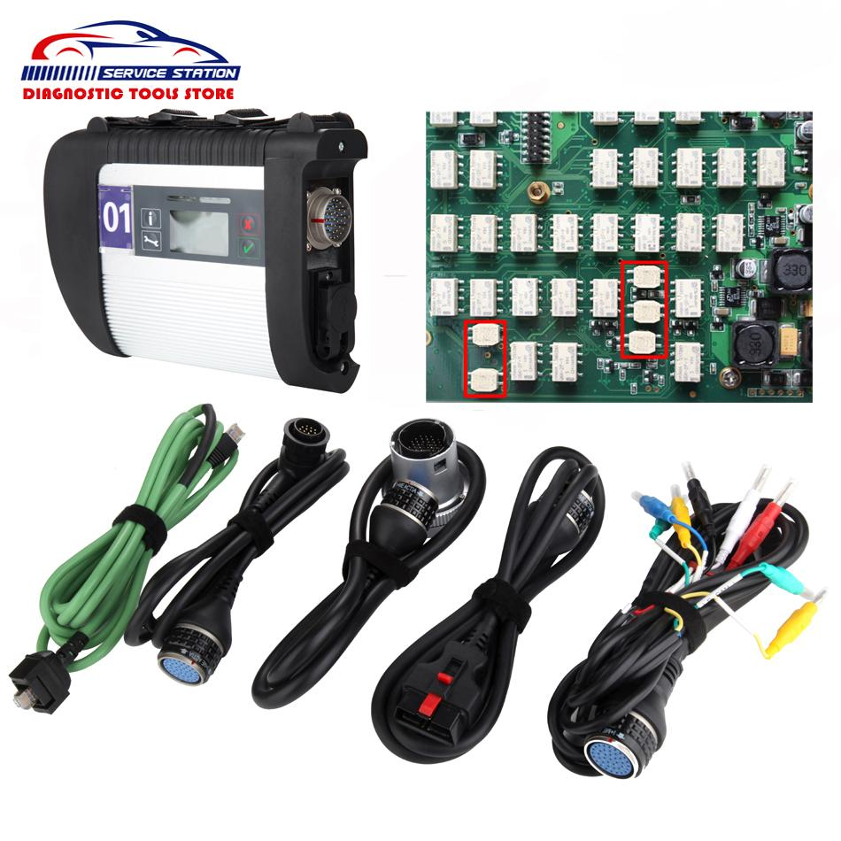 High Quality Full Chip Main Unit Mb Star C4 SD Connect MB SD Connect  Compact 4 Diagnostic Tool + WiFi SD C4 Server Diagnostic Tools Ssd  Diagnostic