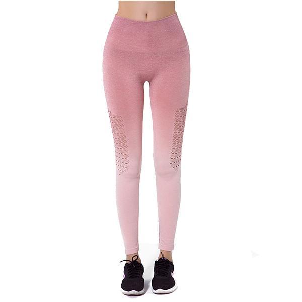 Yoga Pantolon Kadın Köpekbalığı Hızlı Kuru Yüksek Sıçrama Asansör Kalça Pantolon Egzersiz Spor Yüksek Bel Degrade Tayt Çok Renk İsteğe Bağlı