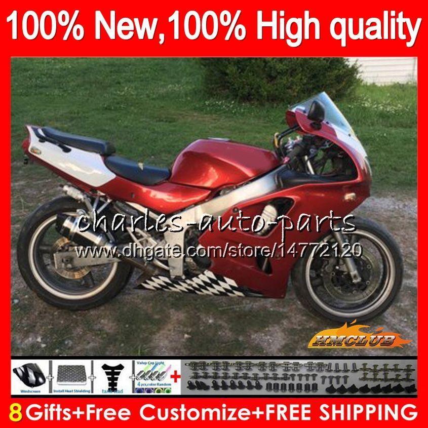 Body For KAWASAKI ZX636 ZX 6 R 6R 600CC ZX-636 94 97 50HC.95 ZX600 ZX 636 ZX6R 94 95 96 97 ZX-6R 1994 1995 1996 1997 Fairings metal red new