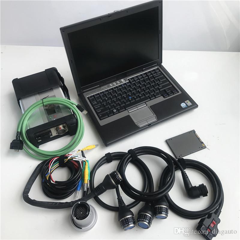أداة MB ستار C5 التشخيص + ديل المحمول D630 4GB رام التشخيص الكمبيوتر + V2020.06 لينة وير لأغراض التنمية المستدامة C5 ربط أداة diagnositic