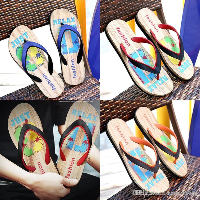 new Designer Rubber Non-slip sandals slippers men Designer flower printed beach flip flops slipper summer Hawaii Beach slippers size 40-45