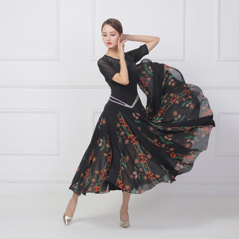 New Ballroom Competition Dance Dress Women long waltz Tango Modern dance elegant practice costumes