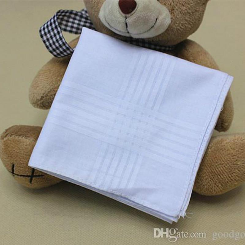 High 38 cm volle baumwolle hanky hot c184 handherchief männer square handherchief quadrate pocket männer neu weiß 100% hochwertige ciodr