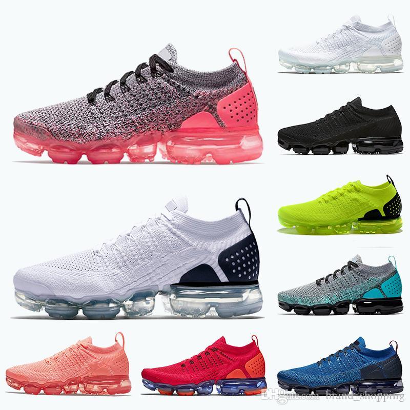 Calidad superior Vamaxpor Ultramarine White Black Shoes para hombres Mujeres FK KNIT 2.0 Volt Gris Orbit Racer Racer Azules