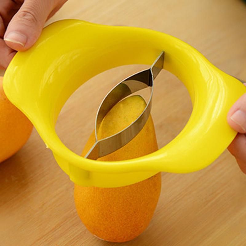 Wholesale Creative Design Home Daily Practical Mango Splitters Fruit Vegetable Peeler Kitchen Fruit Vegetable Tools Slicer Cutter DH0403