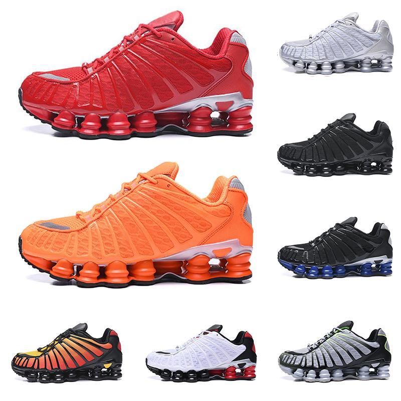 nike shox koşu ayakkabıları Yeni TP erkekler üçlü siyah Bred Sunrise Kil Turuncu Kireç Blast Metalik gümüş Hız erkek eğitmen moda spor spor ayakkabıları kırmızı