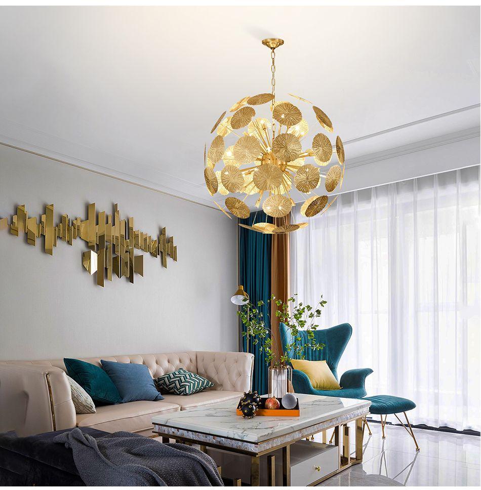 Postmodern Light Luxury Chandelier Stainless Steel Living Room Dining Room  Lamp Modern Minimalist Bedroom Model Room Personality Art Lightin Hanging  ...