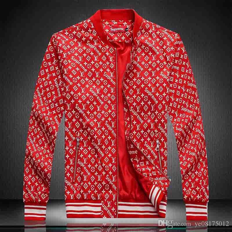 패션 디자이너 자켓 윈드 브레이커 긴 소매 남성 재킷 후드 의류 지퍼 동물 문자 패턴 플러스 사이즈 의류 M-3XL 번호 888로