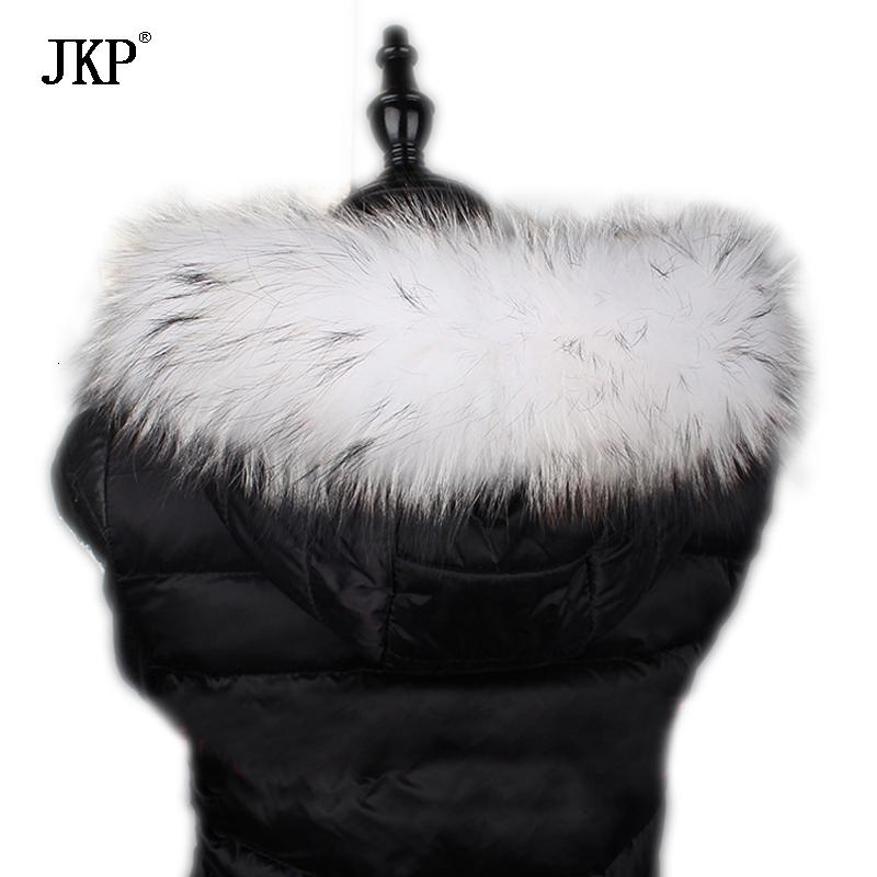 JKP reale Raccoon Fur Collar Donne inverno caldo sciarpa del cappotto di accessori 2019 animale naturale nuovo modo dello scialle della pelliccia avvolge di lusso del collare SH190930
