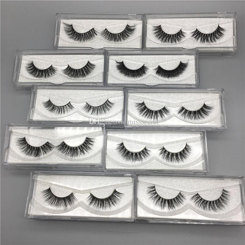 New 100% Real 3D Mink Eyelashes Soft False Eyelashes 10 Styles Natural Soft Curl Thick Mink Lashes 3D Eyelashes Extension Makeup Tool