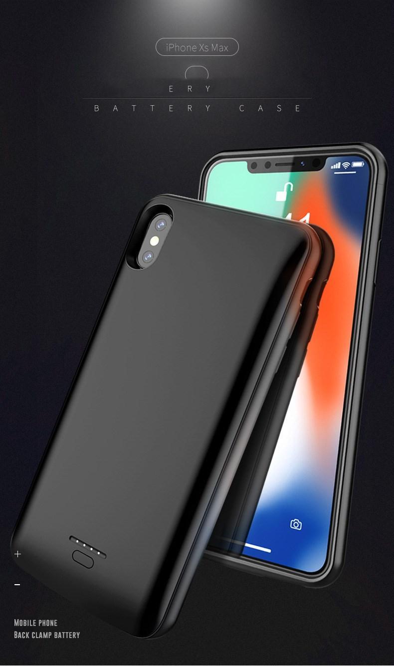 Nouveau bénéfice pour iPhone XR, iphoneXS MAX retour pince batterie magnétique nouvelle batterie clip arrière IX