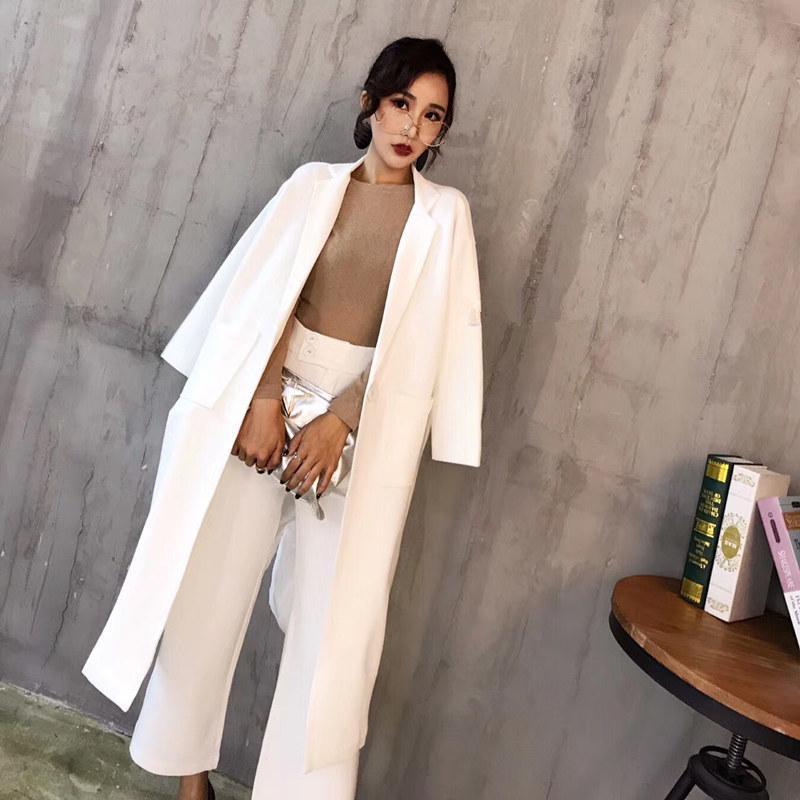 Two piece set long sleeve OL professional temperament overalls female fashion temperament slim long suit suit elegant dress