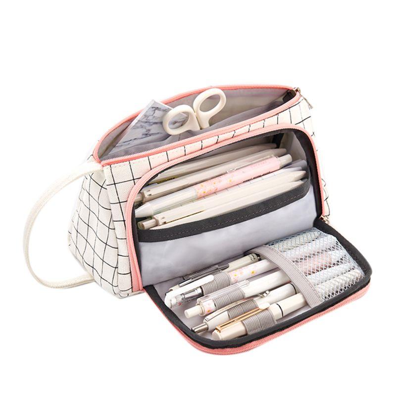 Pen Pouch Office Mesh Storage Organizer Pencil Zipper Case School College New