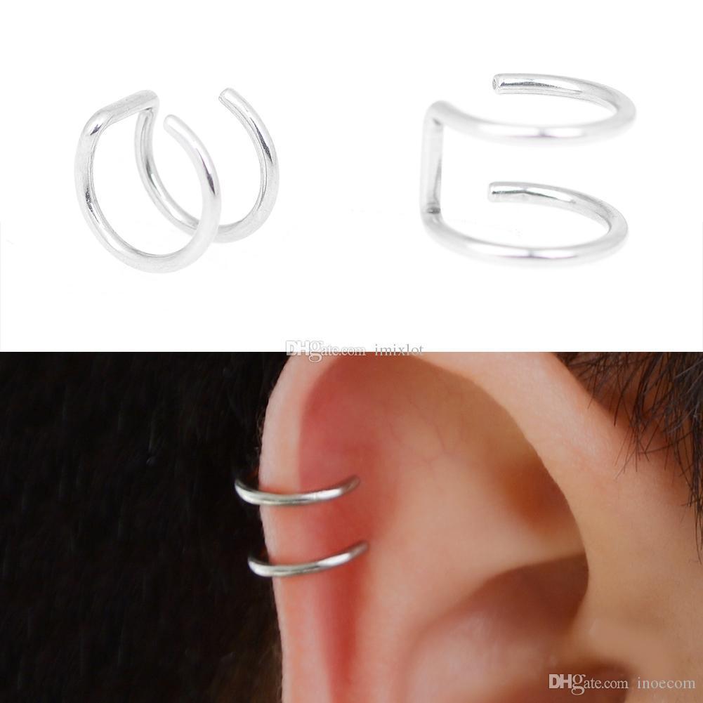 Men/'s Women/'s Clip-on Earrings Non-piercing Ear Cartilage Cuff Ear Drop Ho.vi