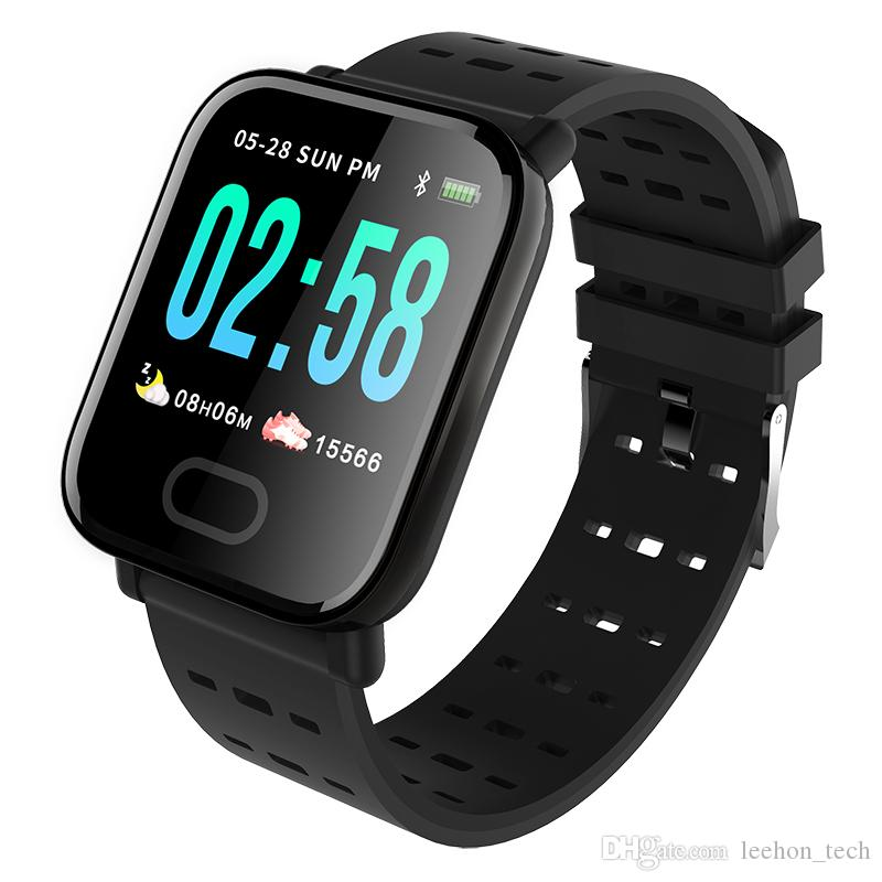 A6 smart bracelet fitness tracker intelligent wristband watch with heart rate monitor pedometer message reminder for ios Android