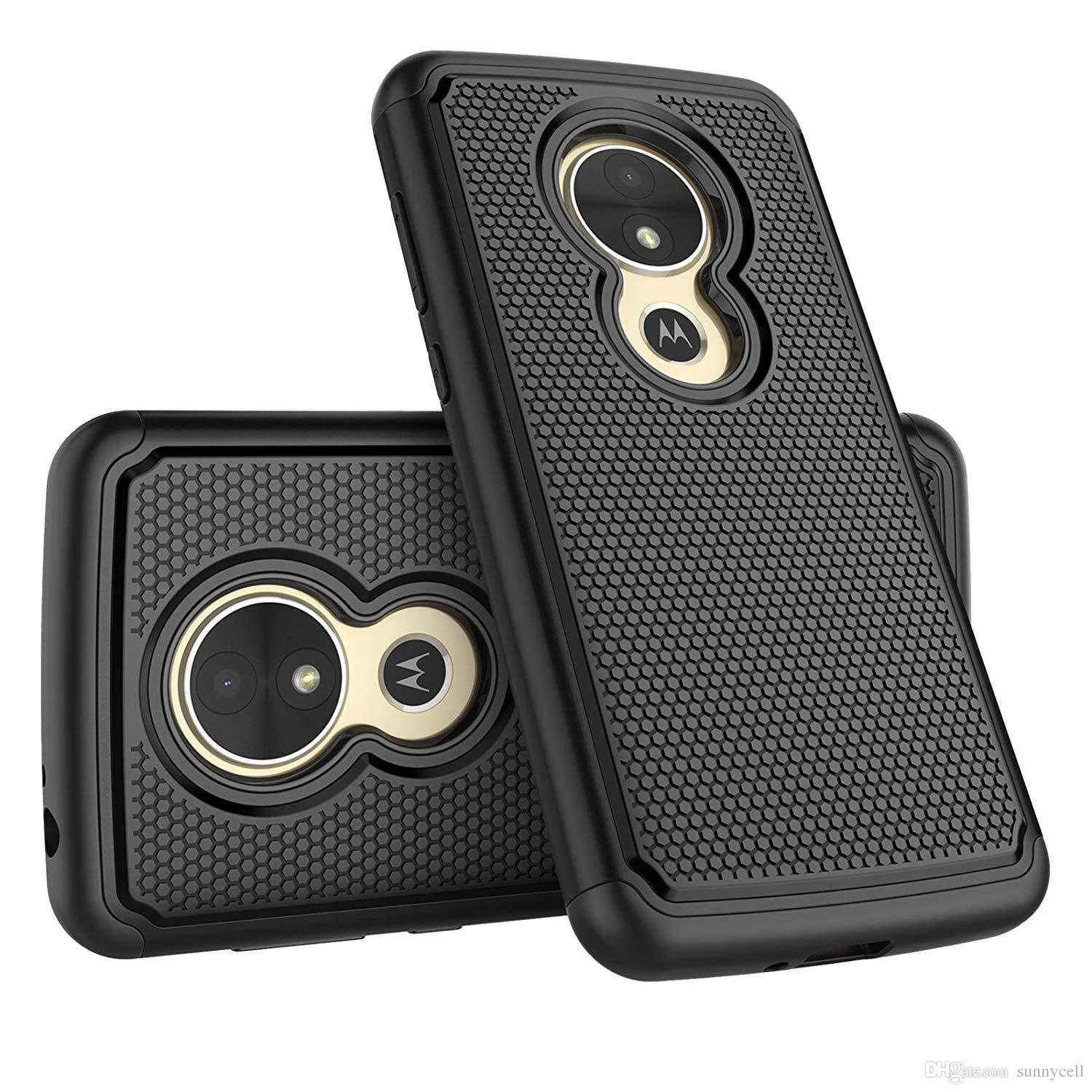 For Motorola Z G4 X5 E5 Play Droid Turbo Maxx 2 Shock Absorbing Best Impact  Bumper Plastic Outer Rubber Silicone Inner Protective Cover Case Cell