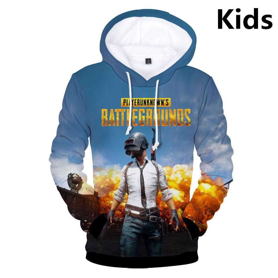 Hot 2 bis 12 Jahre KinderHoodies 3D Playerunknown der Schlachtfelder PUBG Hoodie Jungen Mädchen schöne Kinder Jacke Kleidung Y200519