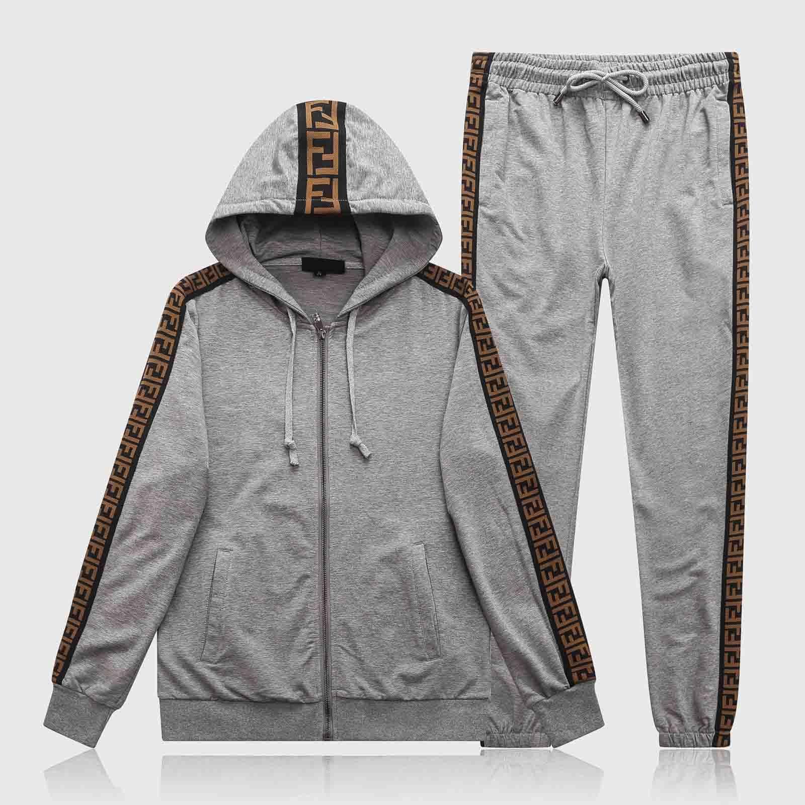 Atacado Paris de Moda de Nova Sportswear Outono e Inverno Sportswear capuz Set Full Zip Femininos Sportswear alta qualidade Hoodie M-3XL