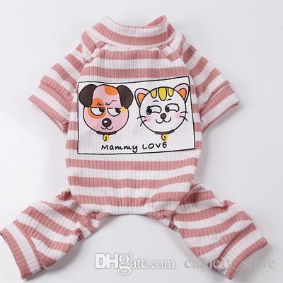 Primavera e verão serviço de casa nova quatro pés dois pés pet roupas roupas gato modelos casal para cães pijamas serviço de ar condicionado
