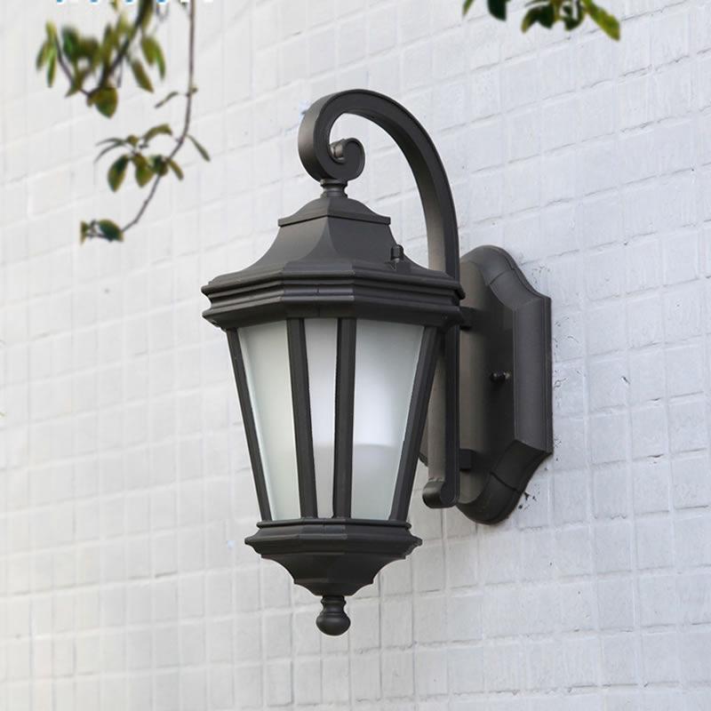 الجدار في الهواء الطلق ضوء الأوروبي الحد الأدنى الجدار مصباح مثمن غرفة كلاسيك الجدار في الهواء الطلق مقاوم للماء ضوء حديقة الشمعدان