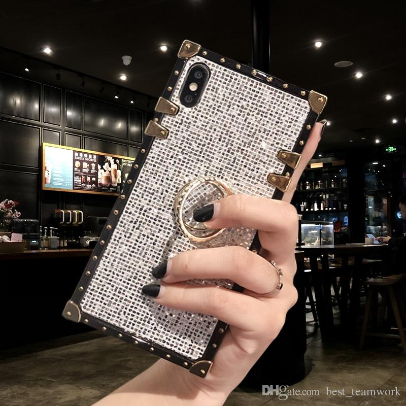 Trunk phone case luxury diamond bling case For iPhone 11 PRO MAX Samsung S20 plus Ultra Hard Coque bling case trunk Fundas