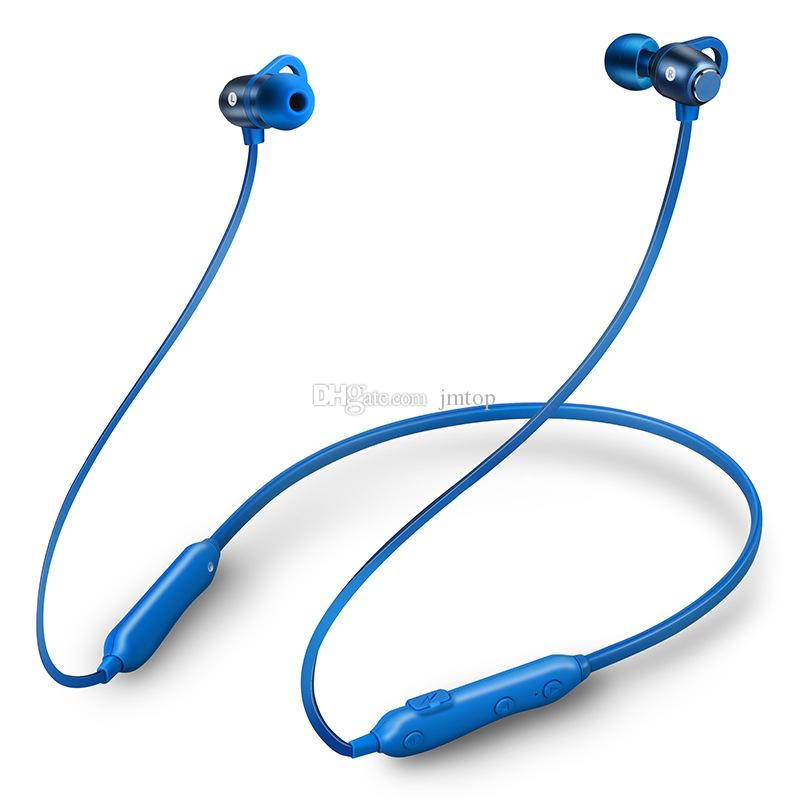 Yeni Kablosuz Bluetooth4.1 Kulaklık S6 Metal Manyetik HIFI Stereo Kulakiçi iPhone Xiaomi Samsung Meizu için Su Geçirmez Spor Kula ...