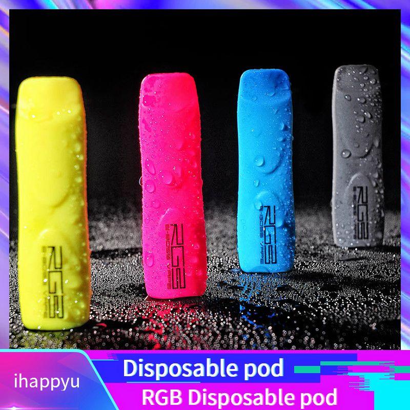 2019 authentique E-BossVape RVB à usage unique Vape Pen 320mAh Batterie 1.2ml cartouche Pod 400 Puffs dispositif Starter Kit 100% Original