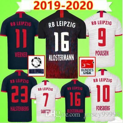 19 20 maglie calcio casa lontano terzo WERNER Camiseta FORSBERG Maillot Halstenberg Sabitzer 2019 2020 magliette di calcio corredi delle uniformi CUNHA