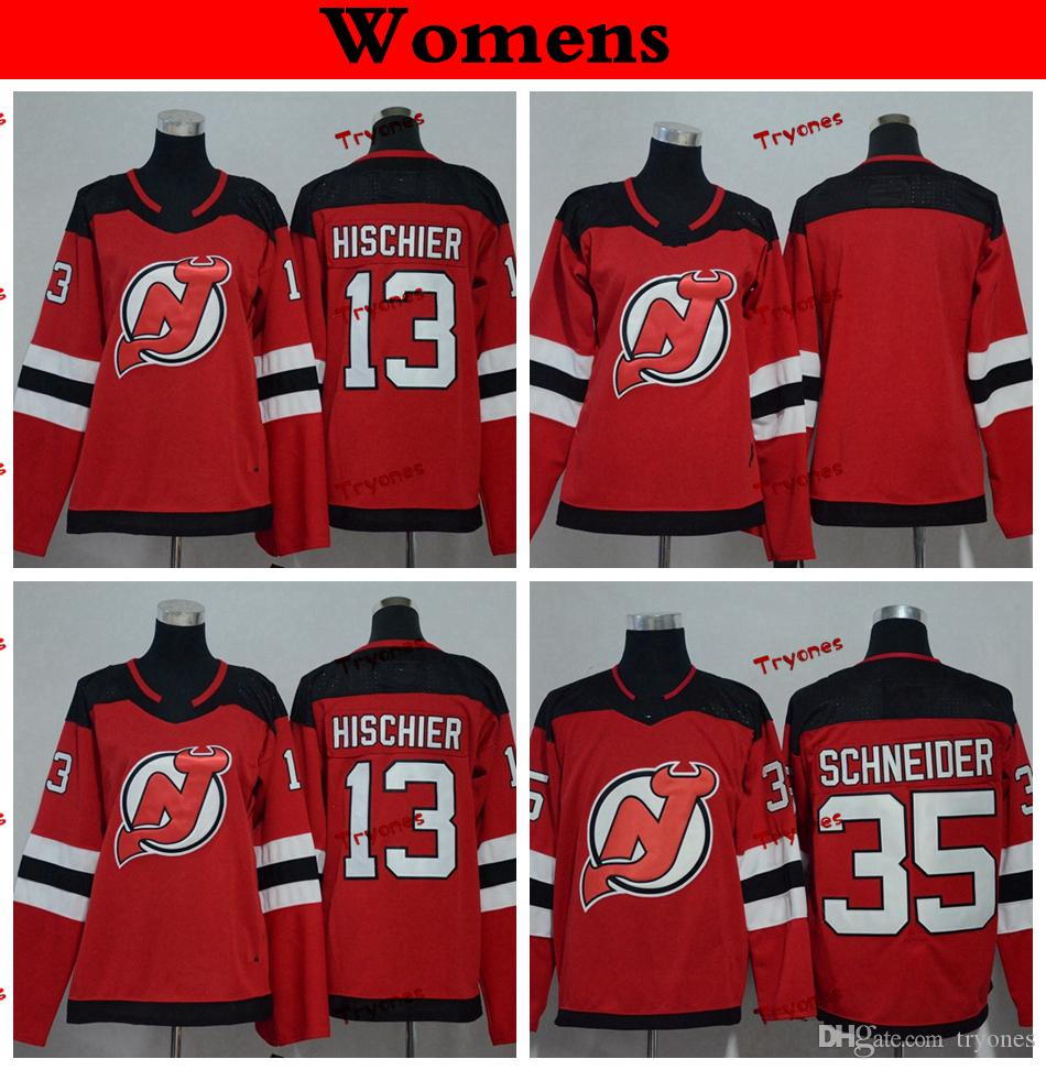 2021 Womens New Jersey Devils Cheap 2019 13 Nico Hischier Hockey ...