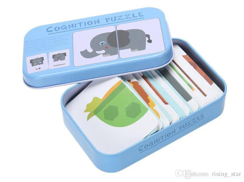 Baby Enlightenment Early educational toys Cognitive Card Fruits/Animals/Traffic 3D Cards Montessori Materials English Games Kids