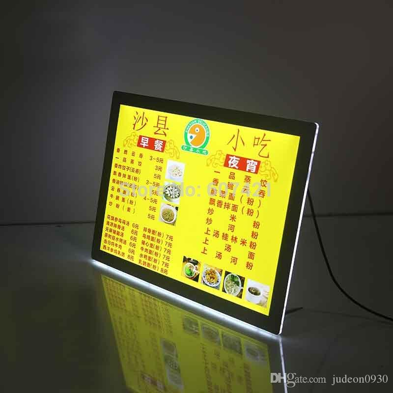 A4 Single Sided Magnetic Front Panel Lightbox Poster Frames, Table Crystal Led Light Box Display