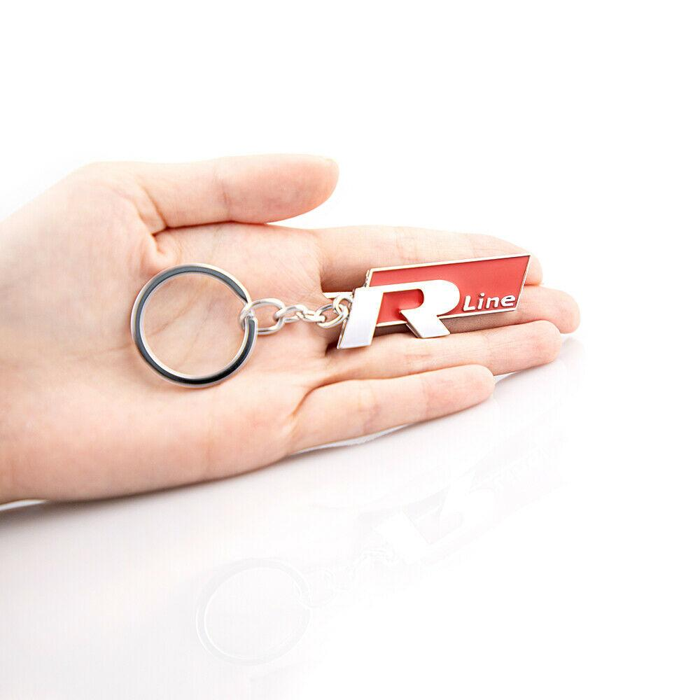 Cadeia Emblem 1pc R Linha chave de metal carro chaveiro para Polo Golf Jetta
