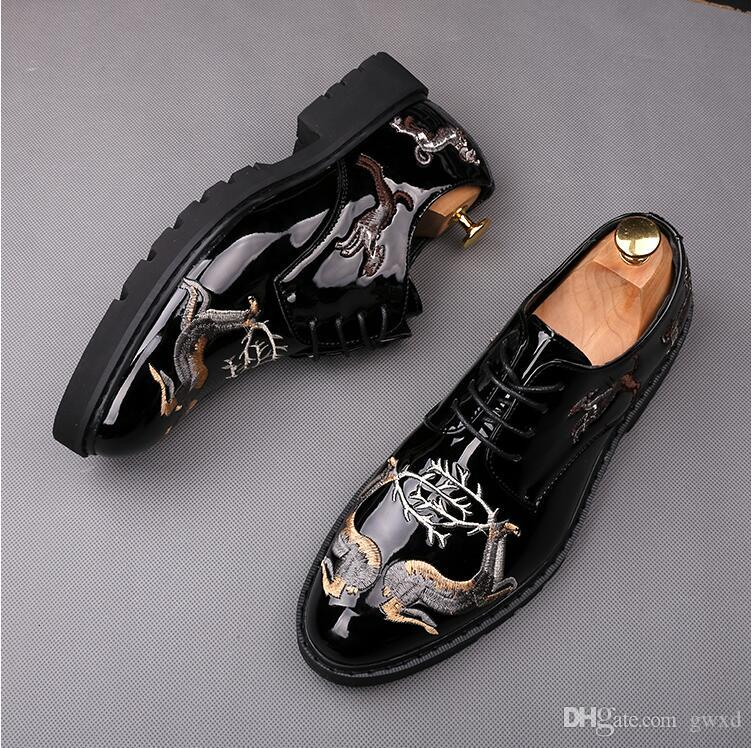 Luxury Designer Fashion Driving Party Wedding Shoes Men Casual Superstar Sneakers Pu Leather Embroidery Male Walking Breathable Flats W402 Online Clothes Shopping Designer Shoes From Gwxd 39 49 Dhgate Com