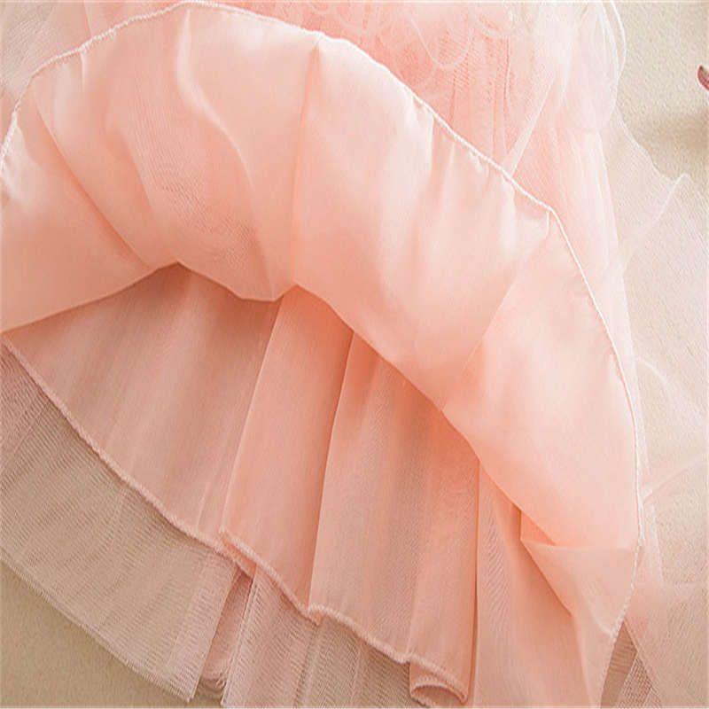 2019 Yeni Geliş Yaz Kız V-Yaka Kolsuz Parti Elbise Bebek Giyim için Sevimli Kız Çocuklar Elbise Çocuk Elbise