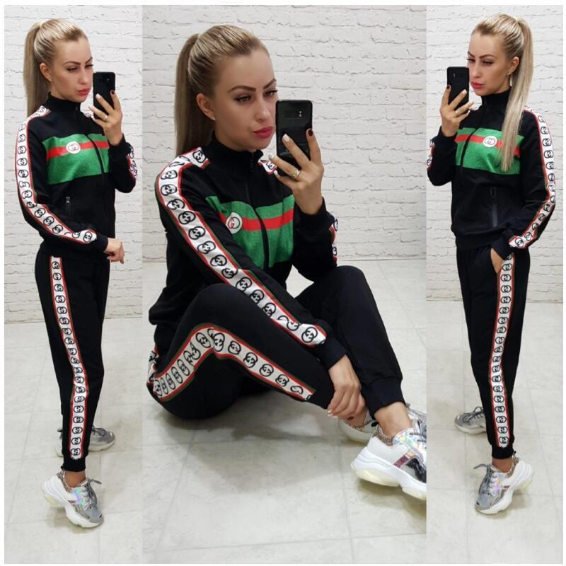 Mulheres agasalho spotswear Hoodie calças Duas peças conjunto de roupas Jogging Sports mangas compridas calças cardigan ternos suéter