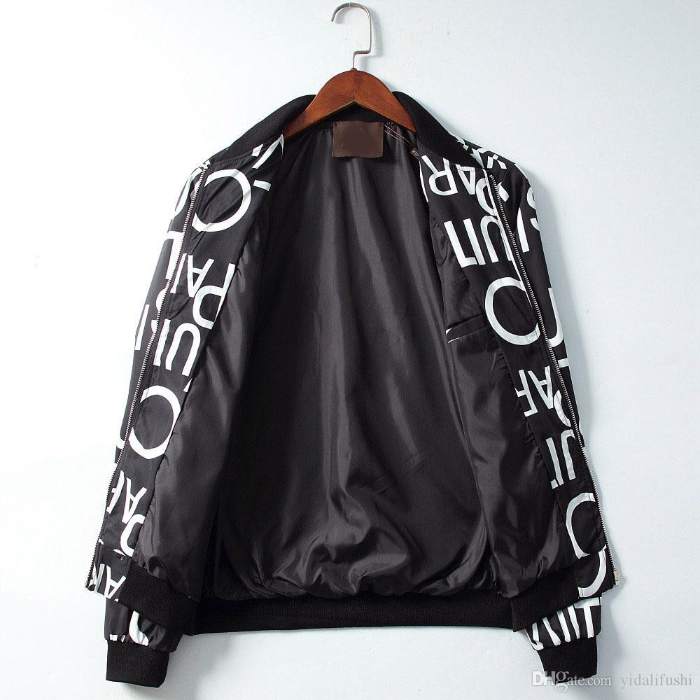 Взрыв 2019 Мужского спортивного качество водонепроницаемой ткани Мужской спортивной куртка Мода Zip Hoodie