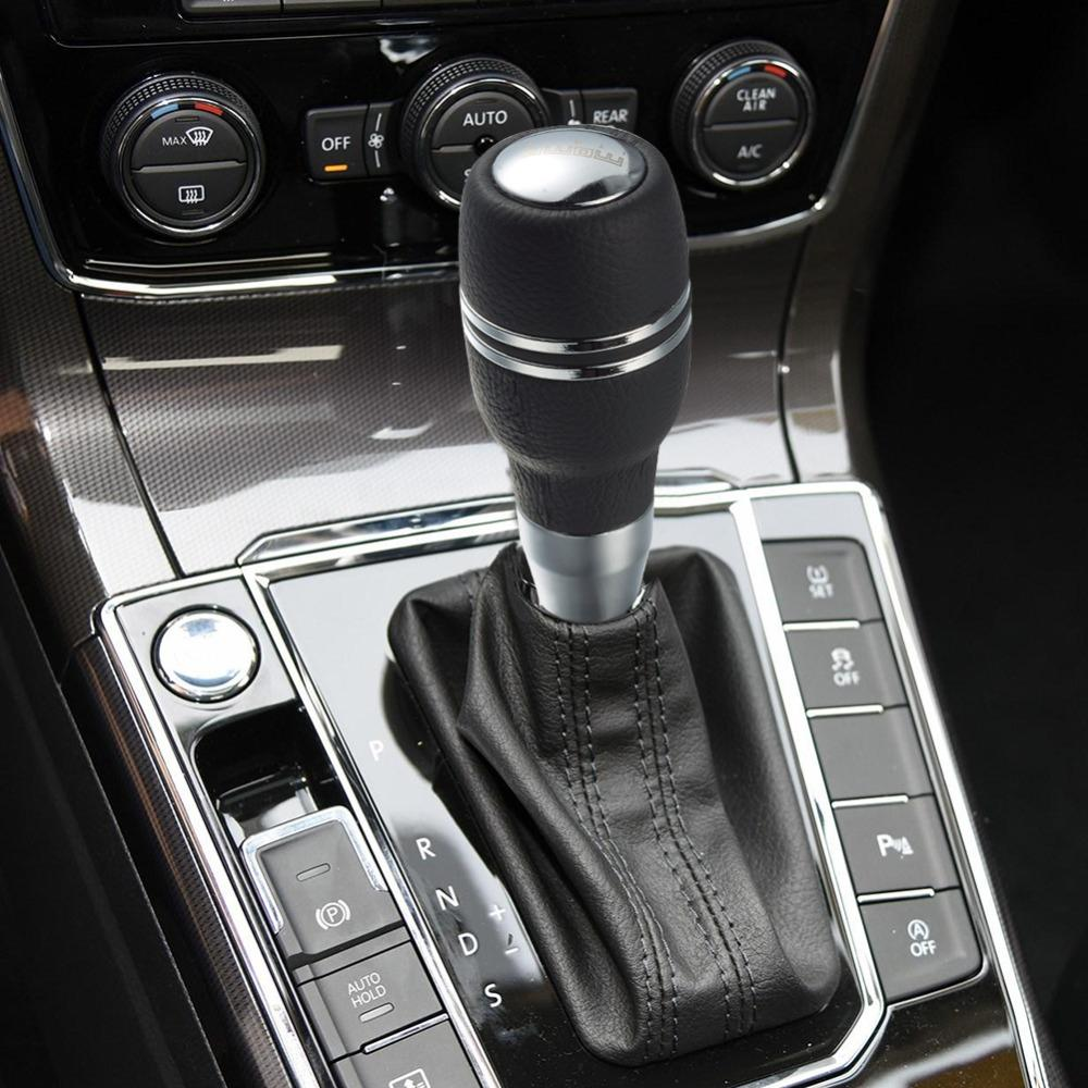Car Interior Parts >> Interior Parts Shift Knob Transmission Handle Shifter Gear Stick Pu Leather And Metal Car Gear Shift Knob Car Seat Decorations Cars Interior From
