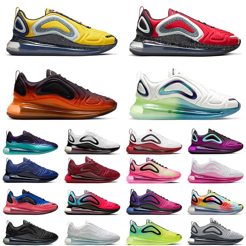 undercover x 720 men women running shoes Bubble Pack Beture Midnight Navy Flaming Hot Gradient Wolf Grey mens chaussures trainer sneakers