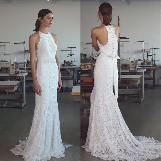 Robe De Mariee Vintage Summer Lace Wedding Dresses 2019 Handmade Mermaid Bridal Dresses Купить Из Китая Abiti Da Sposa