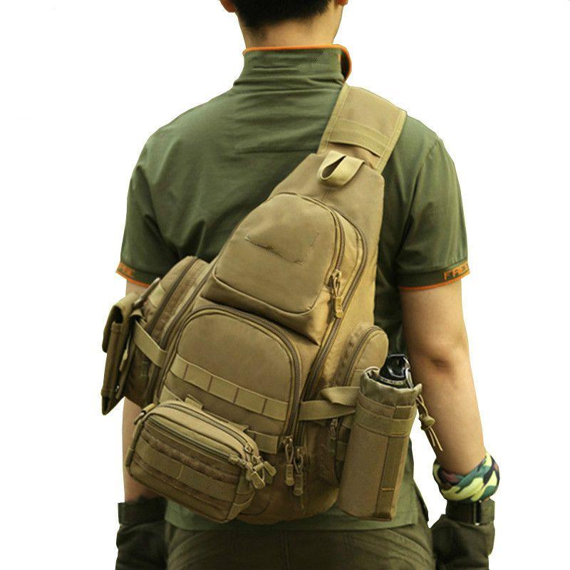 "Protector Plus 20-35L Tactical Sling Bag 14"" Laptop Waterproof Molle Militar Backpack Camping Hiking Hunting Sport Bag"