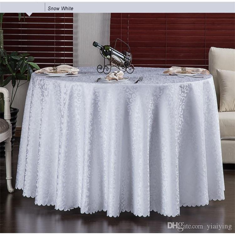 Mesa redonda lujosa cubierta redonda del damasco Jacquard Mantel Mantel boda del hotel lavable a máquina paño de la tela de mesa 10pcs