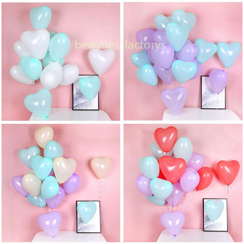 "200pcs Macarons Color Heart Balloons 12 ""Wedding Pastel Latex Balloon Festival Party Event Supplies Decoración de la sala de bodas"