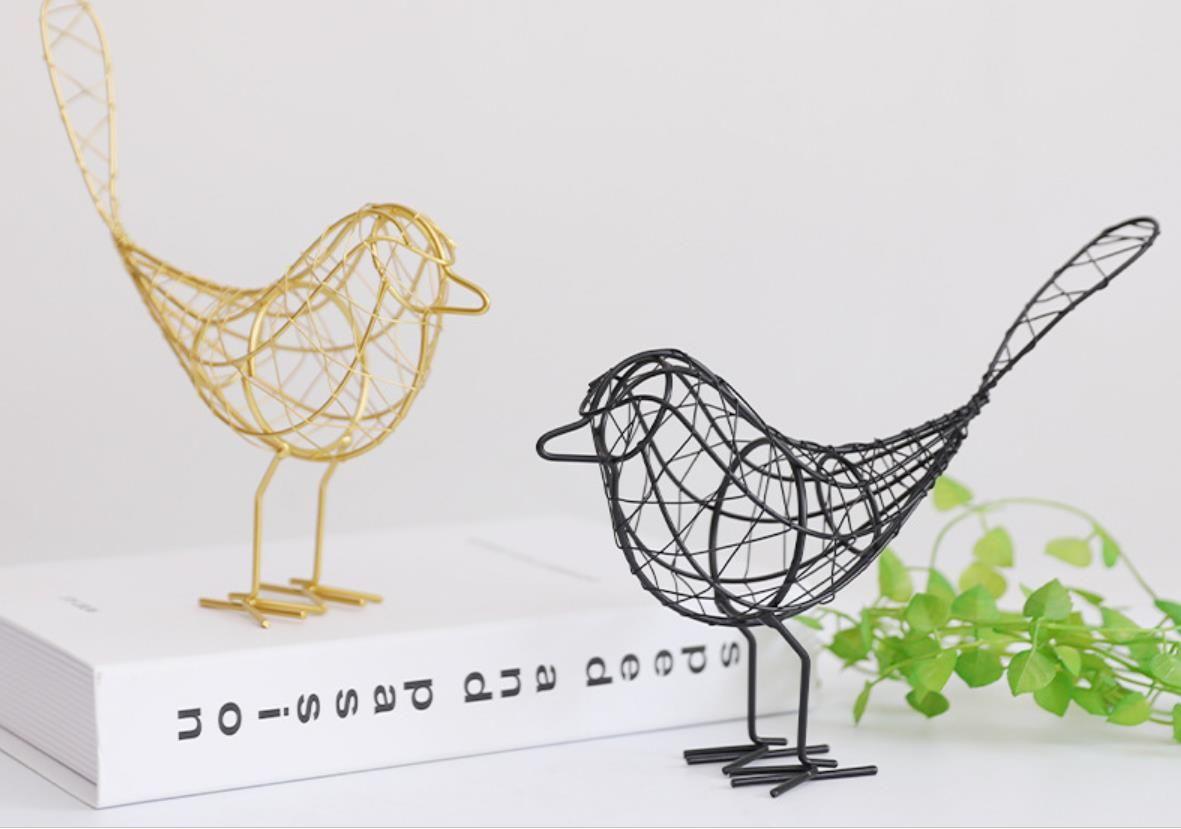 Скандинавская сельская местность железная птица орнамент железная линия простой ветер творческий прекрасный новый странный подарок металлические ремесла орнамент